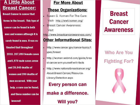 First Tri Fold Breast Cancer Brocher Download