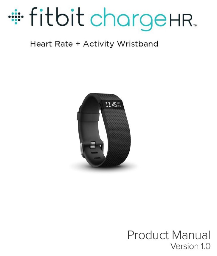 Fitbit Product Manual Sample