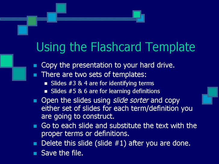 Flash Cards Game Template