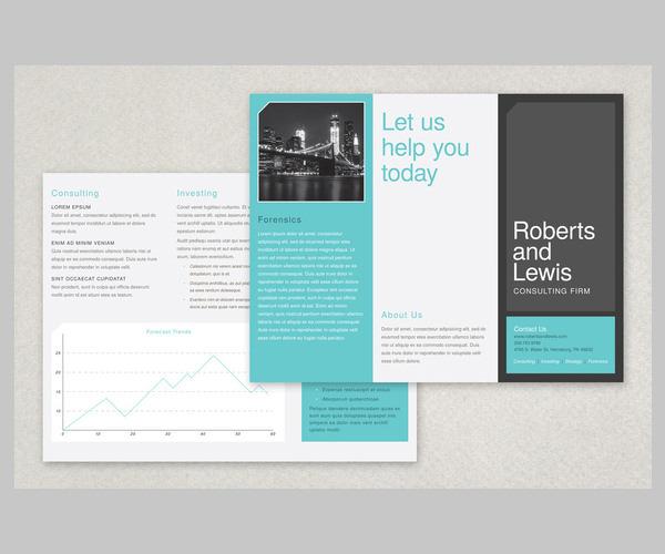Flat Design Brochure Template