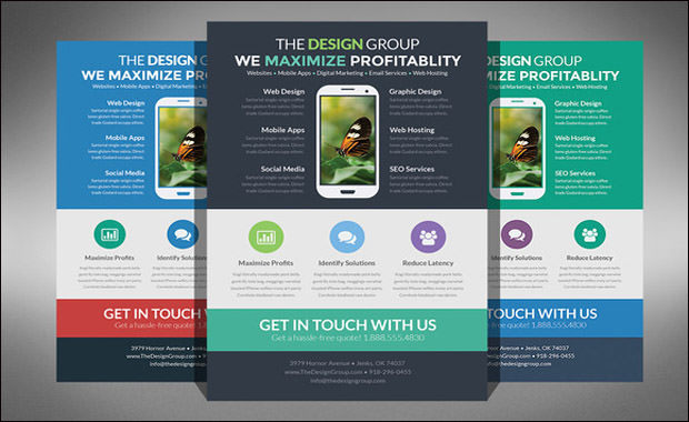 Flat Design Business Flyer