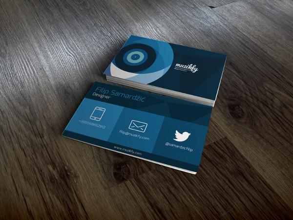 Flat Design Music Business Card