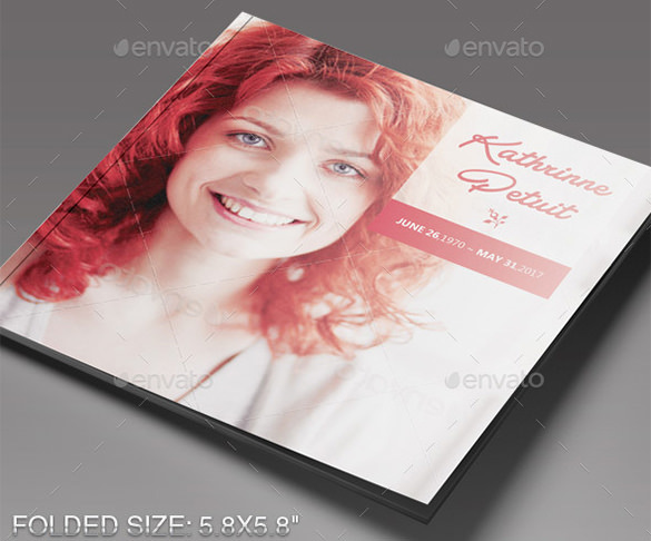 14 funeral program brochure templates free download