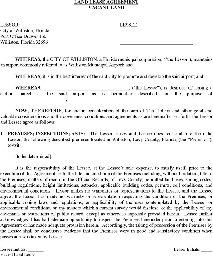 Download Florida Land Lease Agreement For Free Tidytemplates