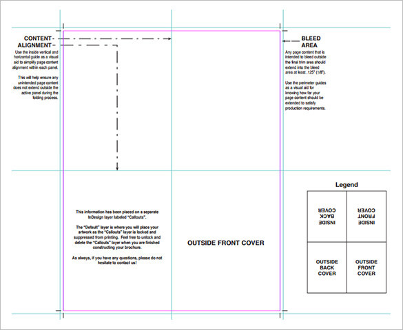 Folding Brochure Printing of Brochure Template