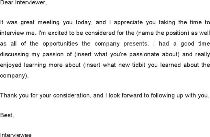 Follow Up Email After Attending Job Interview