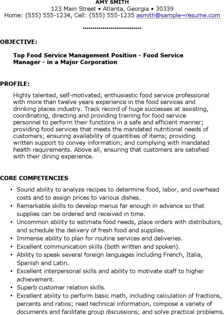 6  food service resume templates free download