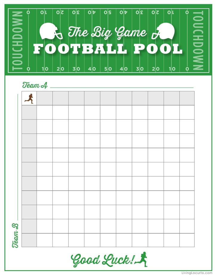 It's just a graphic of Universal Printable 25 Square Football Pool