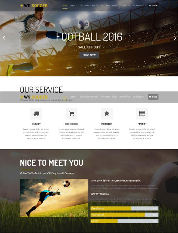 Football soccer Website Template