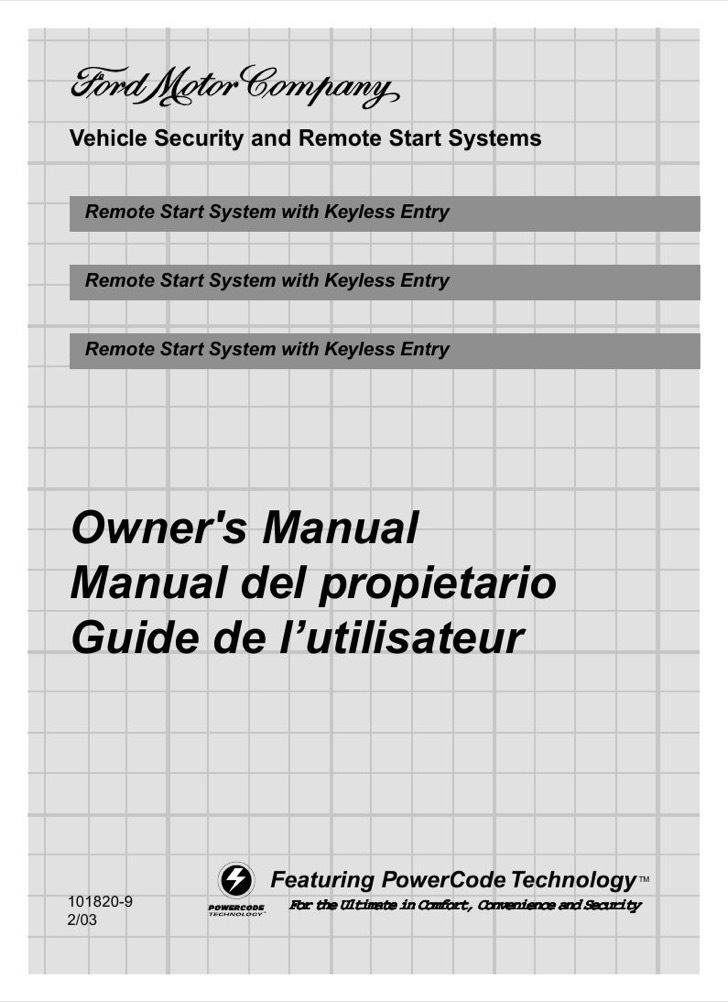 Ford Owners Manual Sample
