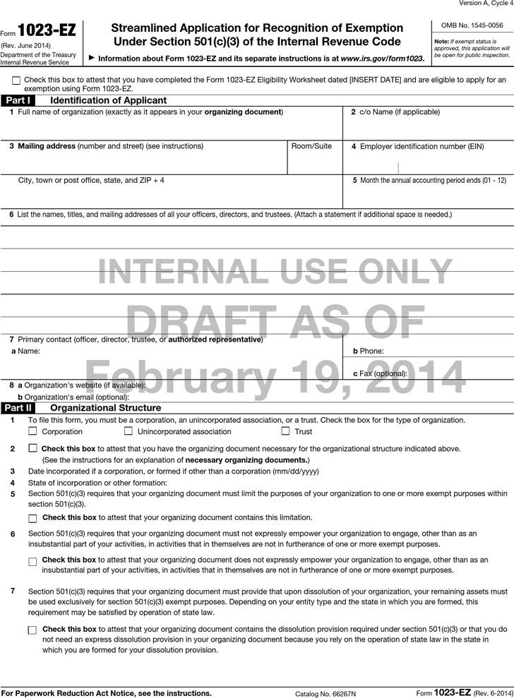 Form 1023-ez