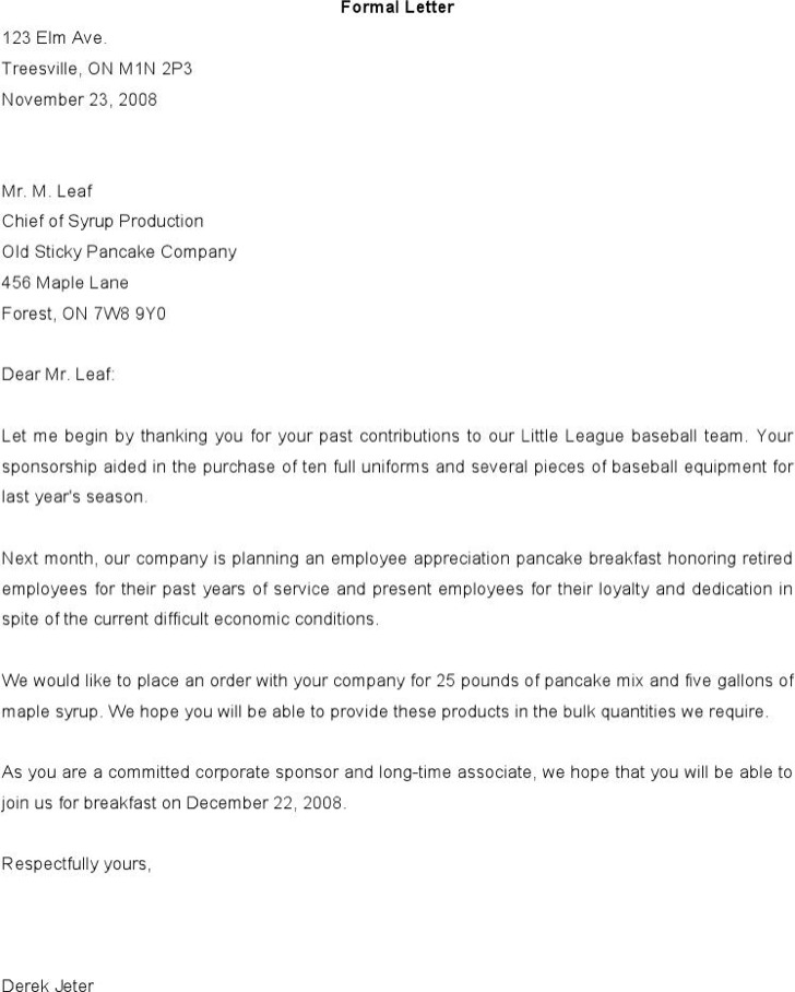 Format Of Formal Letter To The Comany Word Download