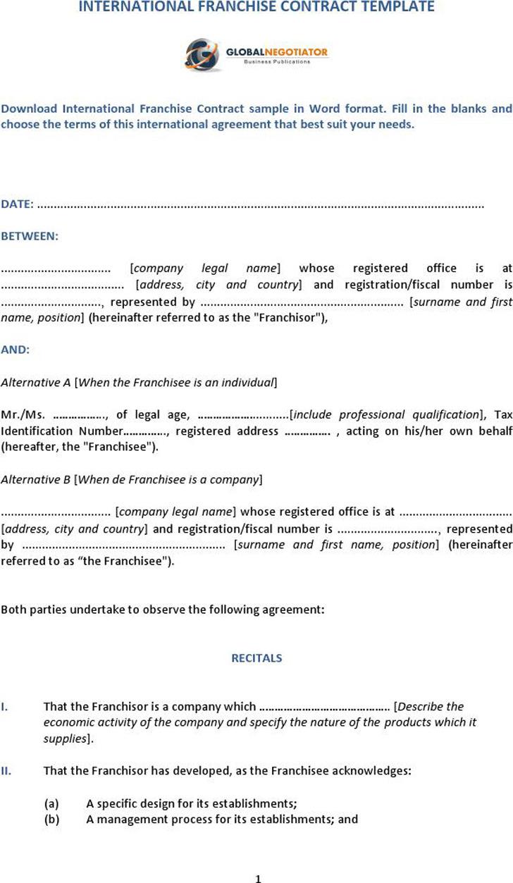 Franchise Agreement Sample 3
