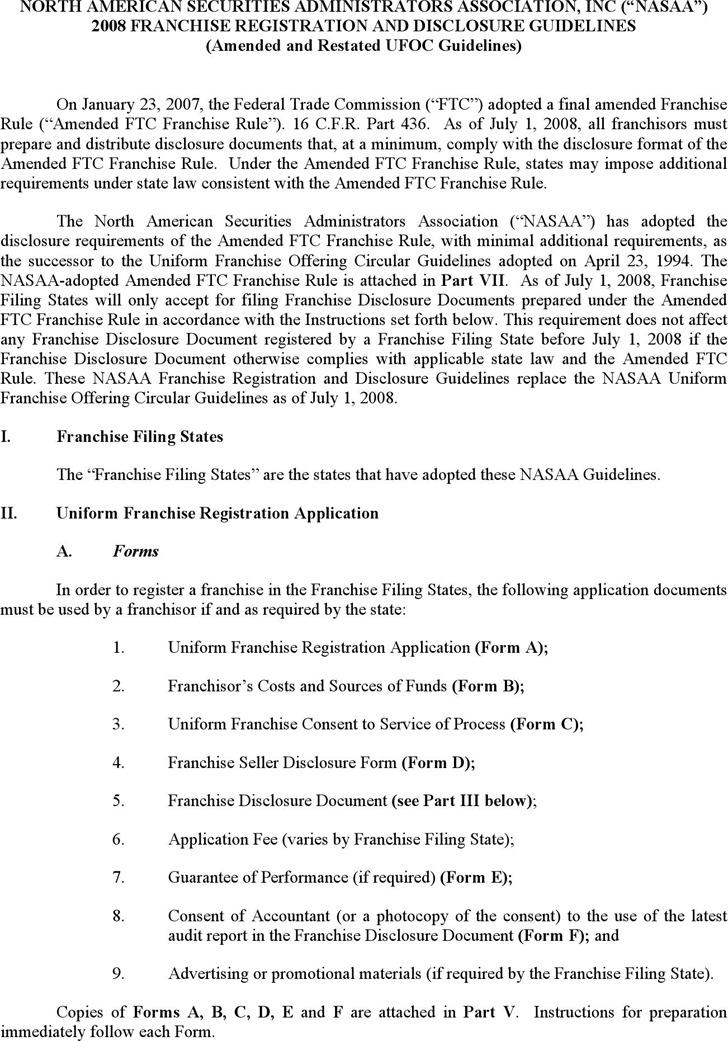 Franchise Disclosure Document 1