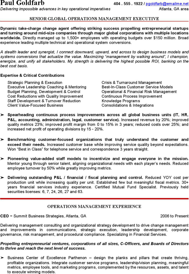 Free Ceo Resume Templates