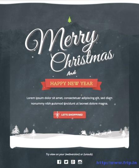 free christmas and new year email templates download