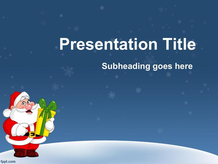 Free Christmas Powerpoint Template Template Download