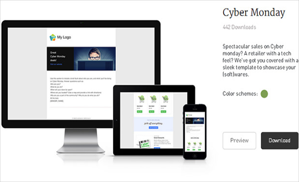 Free Cyber Monday Newsletter Template