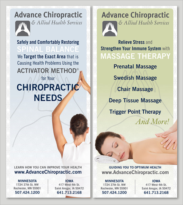 Free Download Advance Chiropractic Brochure Template