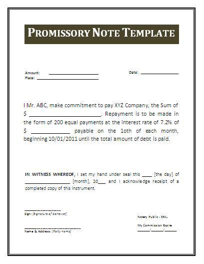 Free Download Business Investment Promissory Note Template PDF