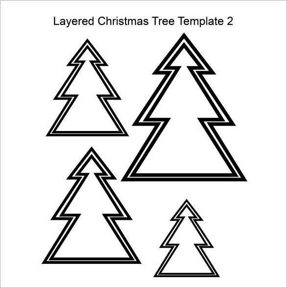 Free Download Layered Christmas Tree Template