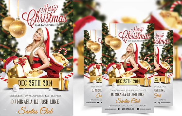 Free Download Merry Christmas Nightclub Psd Flyer Template