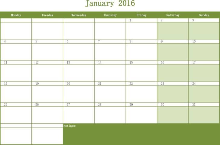 Free Download Monthly Calendar Schedule Template Excel