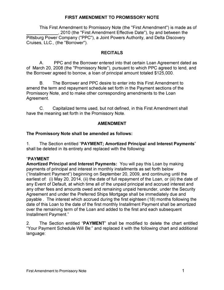 Free Download Simple Promissory Note Template Word