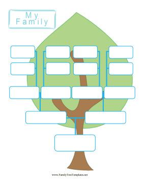 download free editable family tree template for free tidytemplates