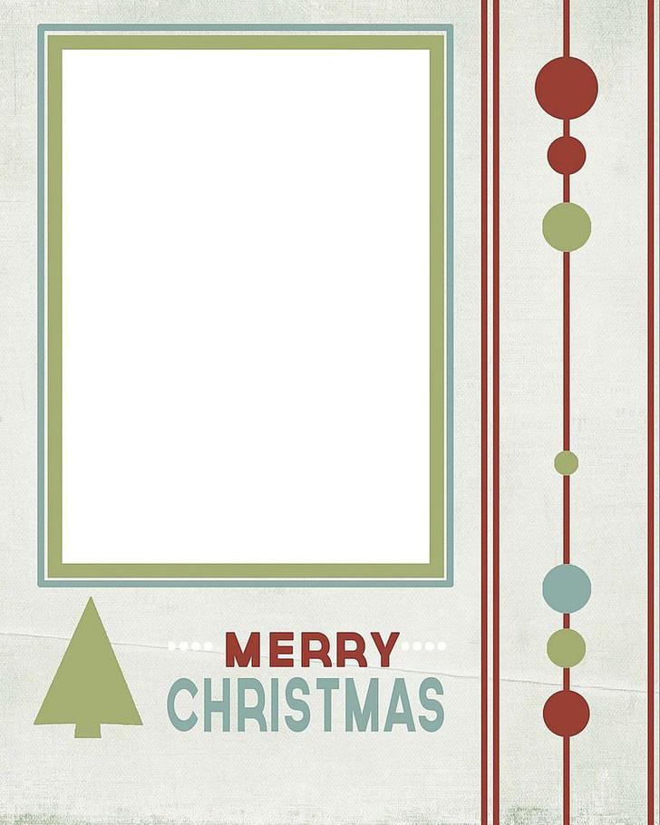 Free Editable Snowy Christmas Card Template