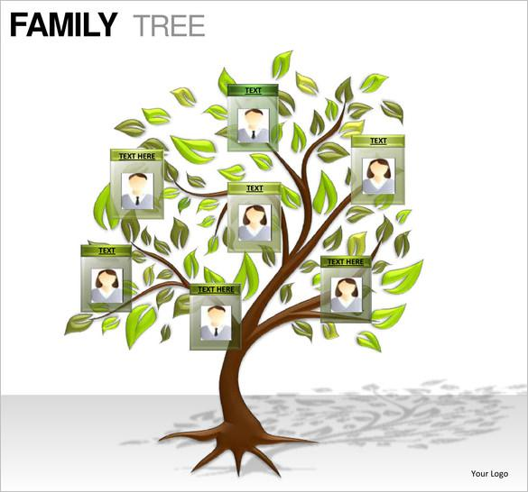 download free family tree powerpoint presentation template for free