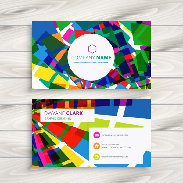 Free Funky Business Card Template