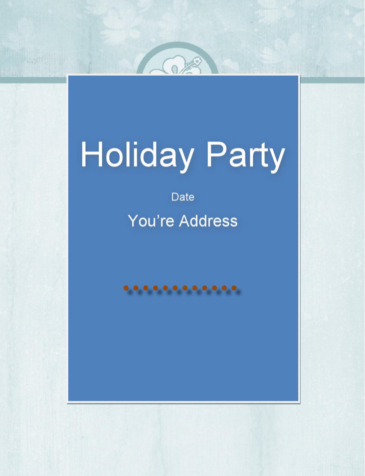 Free Holiday Special Party Invitation