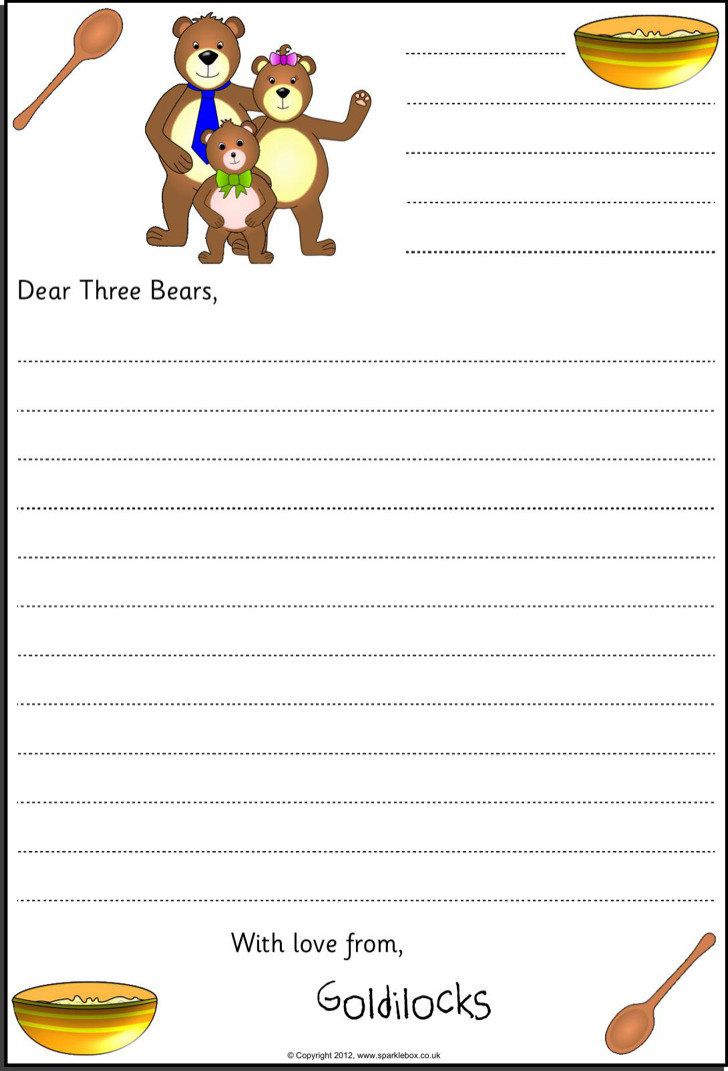 Free Kids Letter Template Pdf