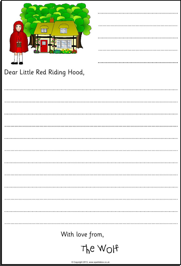 Free Letter Template For Kids
