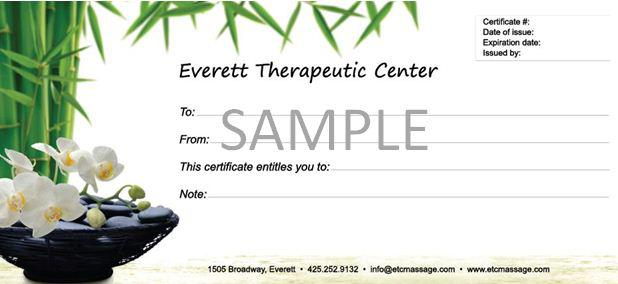 Download Free Massage Gift Certificate Template Editable For Free