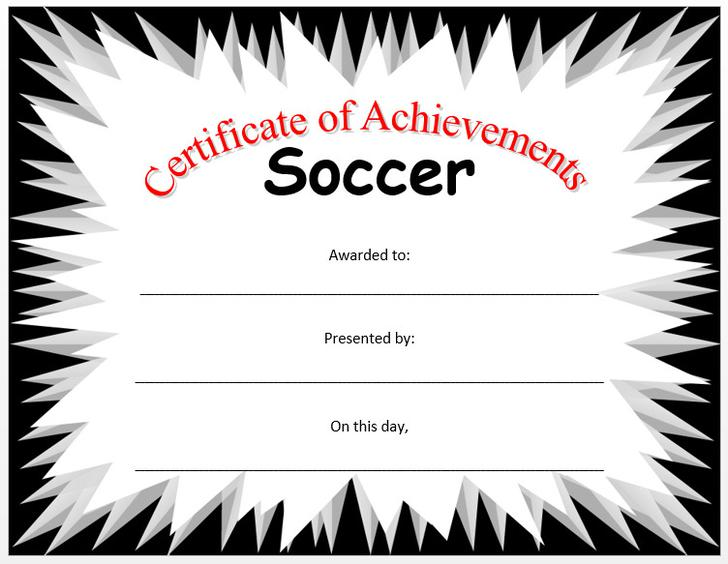 Free Most Valuable Player Award Certificate Word