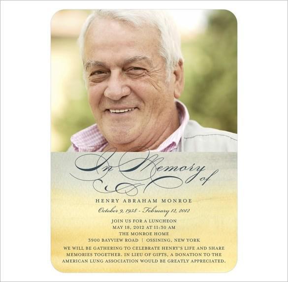 Free Obituary Template