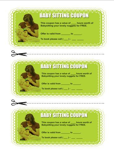 Free Printable Baby-sitting Coupon Download