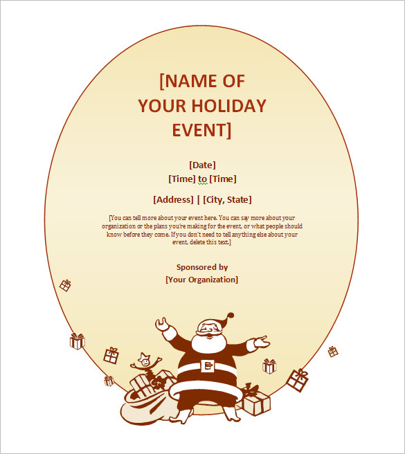 free printable christmas invitation template