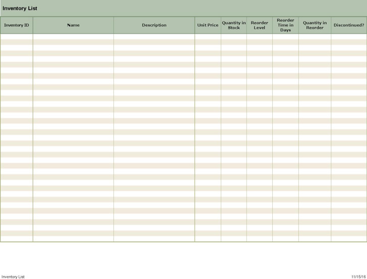 Free Printable Inventory Count Sheets1