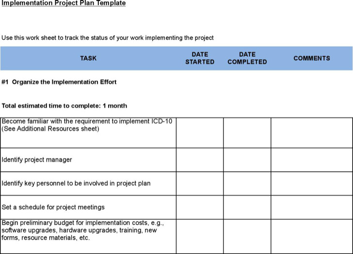 software upgrade project plan template