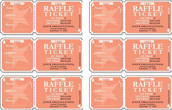 Free Raffle Ticket Template Word Format