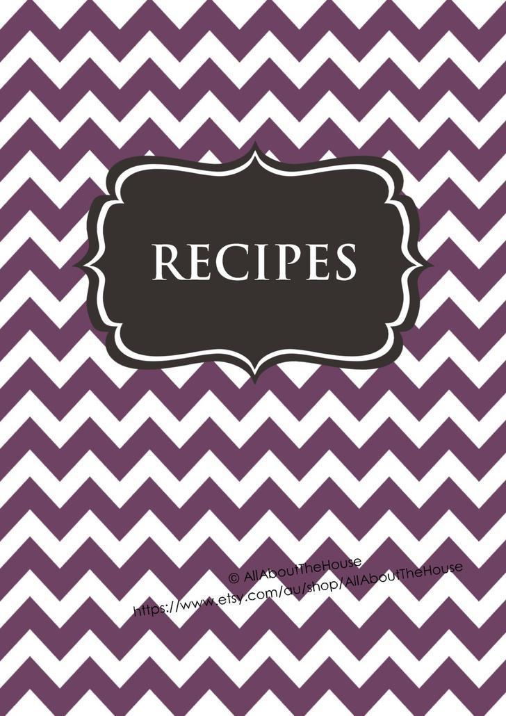 Free Recipe Book Printable Download