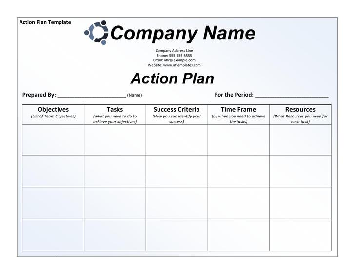 Free SMART Action Plan Template Word Download