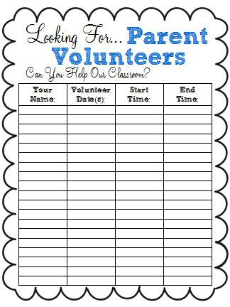 Free Volunteer Sign In Sheet Word Doc