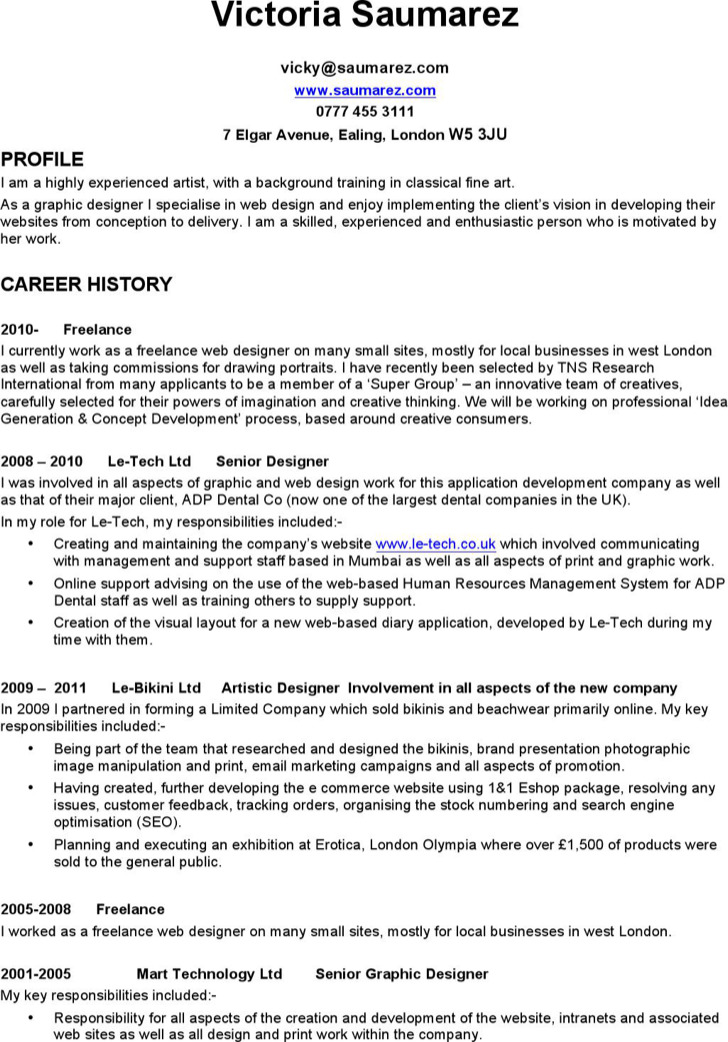 6  freelance resume templates free download