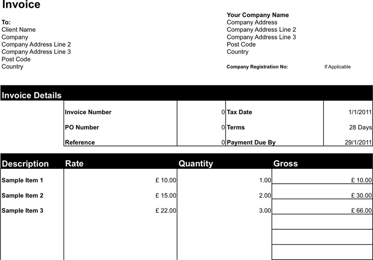 Freelance Invoice Template for Limited Company