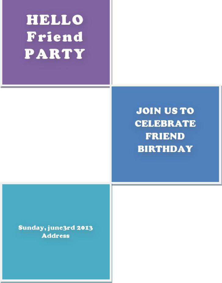 Friend Party Invitation Free