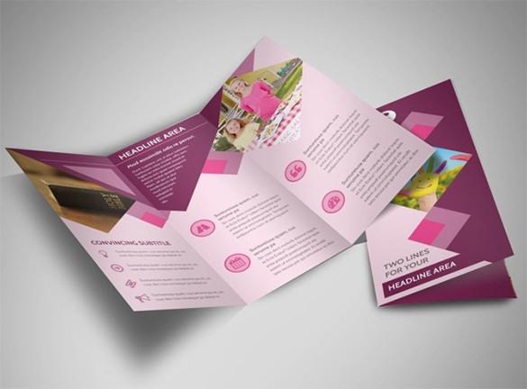 Fundraiser Tri-Fold Church Brochure Template